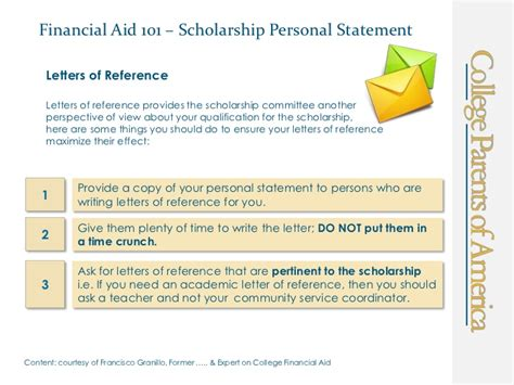 Scholarship Letter Explaining Financial Need Financial Aid 101 Scholarship Personal Statement