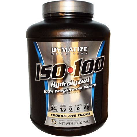 Iso 100 Dymatize Whey Protein 5lbs dymatize nutrition iso 100 100 whey protein isolate cookies and 5 lbs 2 275 g