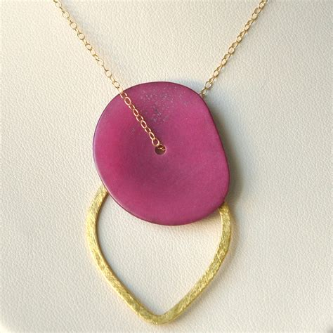 tagua nut necklace gold filled necklace tagua jewelry tagua