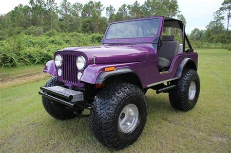 purple jeep cj buy used 1975 jeep cj5 restored 4wd sport utility let 77