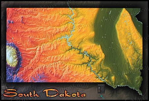physical map of south dakota south dakota topography map physical terrain in bold colors
