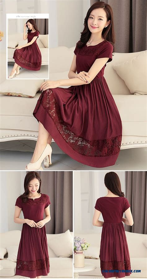 hip summer styles for middle age women cheap middle aged women dress summer new short sleeved