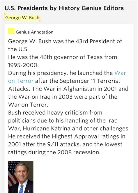 george w bush u s presidents history com george w bush u s presidents meaning