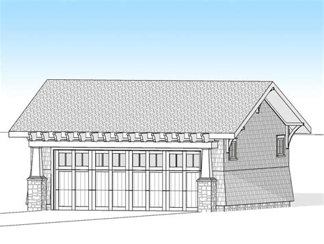 garage architectural plans craftsman 2 car detached garage 18278be architectural