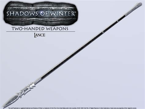 the cavalry lance weapon books the lost prophecies shadows of winter equipment