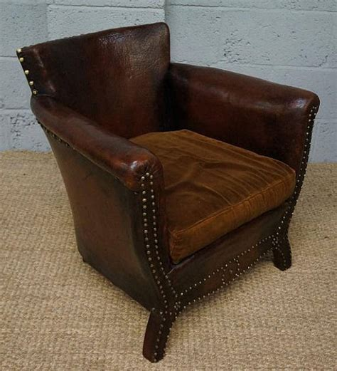 small brown leather armchair vintage small dark brown leather armchair loveantiques com