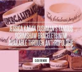 Kagan Cushmans Scrimshaw Bracelets Now Available Through Anthropologie kagan cushman s scrimshaw bracelets now