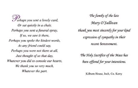 funeral acknowledgement cards template best photos of acknowledgements for funeral programs