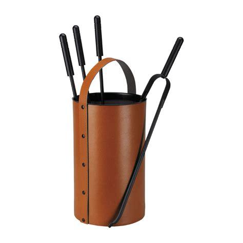 kaminbesteck modern kaminbesteck samba aus leder cognac 4 teilig kaufen