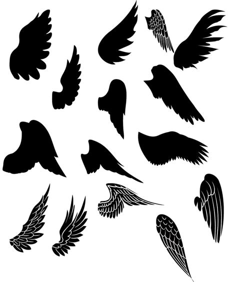 designing silhouettes of angels demo free wings kldezign les svg des ailes silhouette