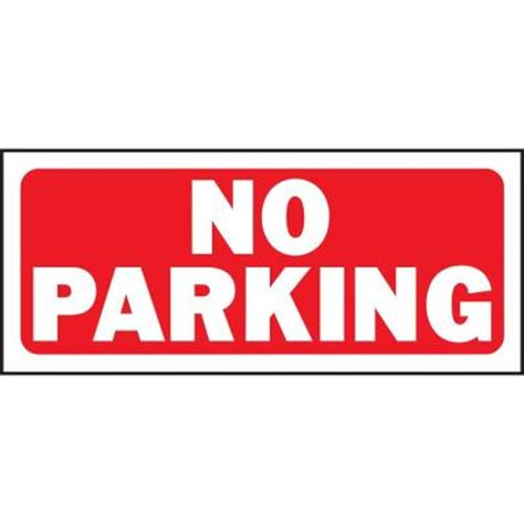 hy ko 6 in x 14 in plastic no parking sign 23002 the