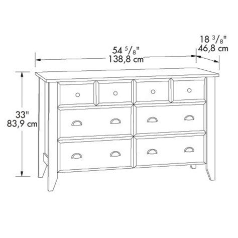 Sauder Shoal Creek Jamocha Wood Dresser 409937 Bedroom Dresser Dimensions