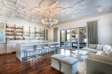 livingroom bar living room bar with geometric overlay panel ceiling contemporary living room