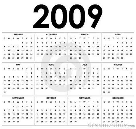 Calendario Febrero 2009 Calend 225 2009 Foto De Stock Imagem 5533630