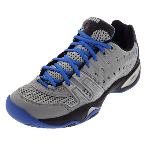 prince s t22 tennis shoes gray and black