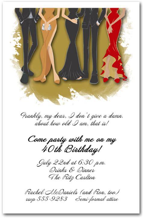 legs formal attire party invitation