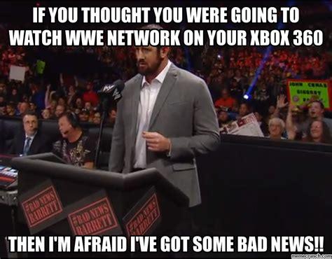 Wwe Network Meme - bad news barrett wwe network