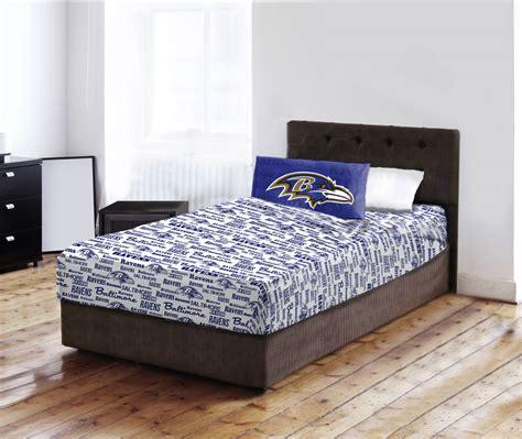 Baltimore Ravens Bed Sheet Set Nfl Football Team Logo Ravens Bedding Set