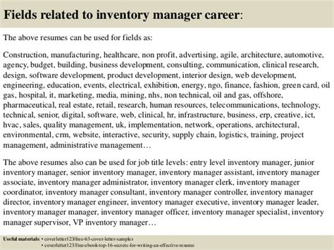 Inventory Controller Cover Letter by Inventory Manager Cover Letter Writefiction581 Web Fc2