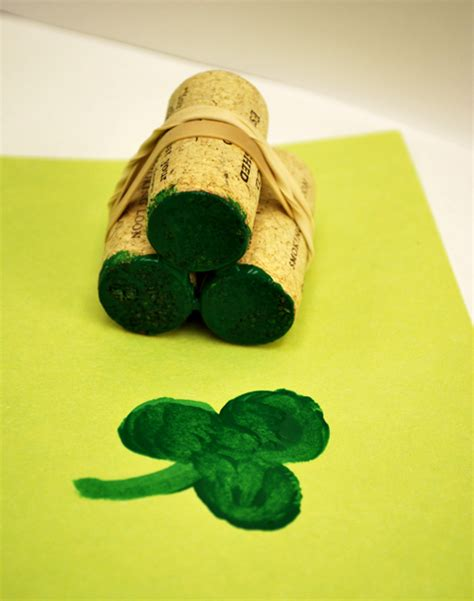 make rubber st shamrock sting activity for artzycreations