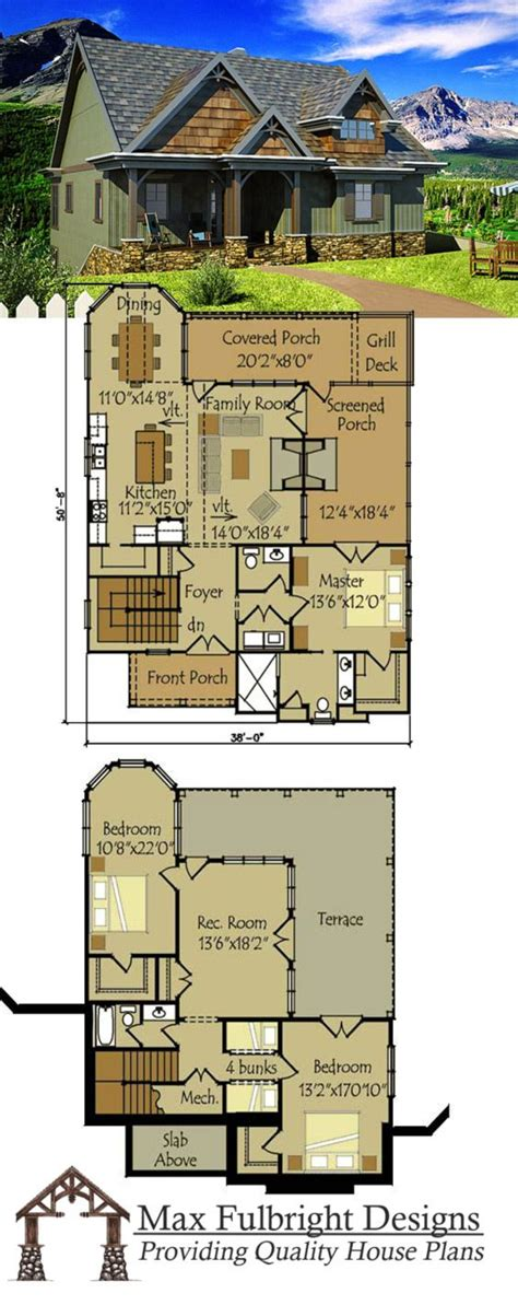 Small Cottage Plan With Walkout Basement Rustic Cottage Rustic Cottage Floor Plans