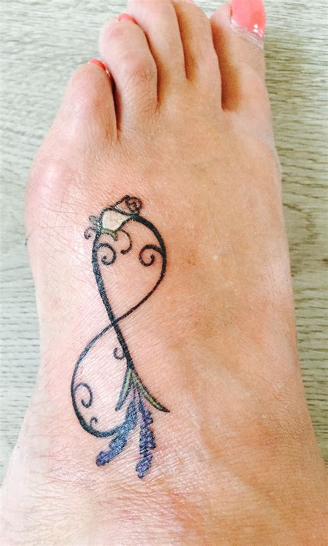 nan tattoos on wrist infinity foot with white bud daughters birth