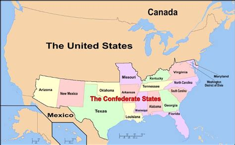 current map of the united states of america wiki confederate states of america the current map of