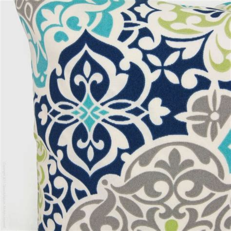 Patio Cushions Navy Blue Outdoor Pillow Patio Cushion Aqua Navy Blue By