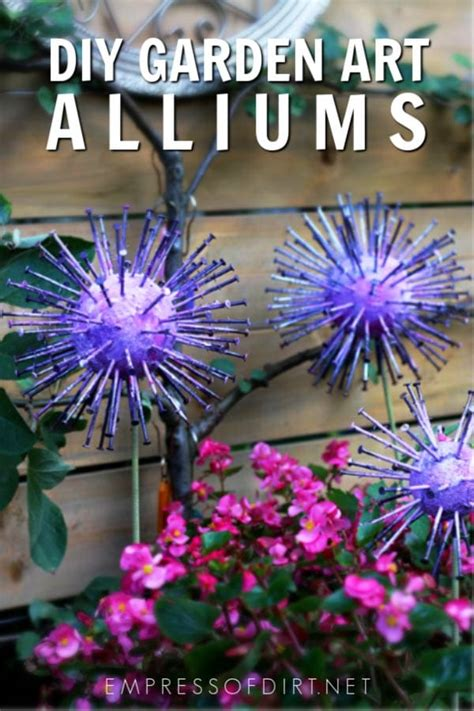 giant garden art alliums empress  dirt