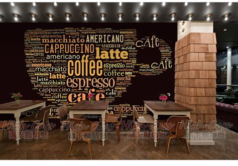 Poster Dinding Dekorasi Bar Coffee Cafe casual station tv wall wallpaper wallpaper living room theme cafe coffee cup wallpaper murals