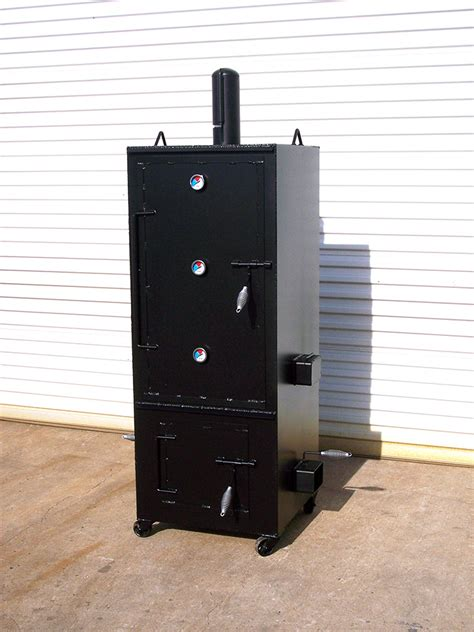 Stationary Awning Vertical Smoker Johnson Custom Bbq Smokers
