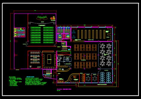 Boarding House Floor Plan library in autocad drawing bibliocad