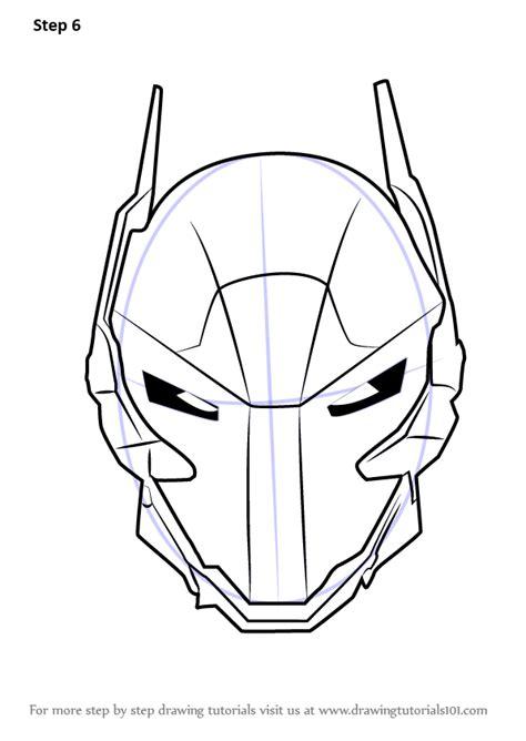 learn   draw arkham knight helmet  batman batman