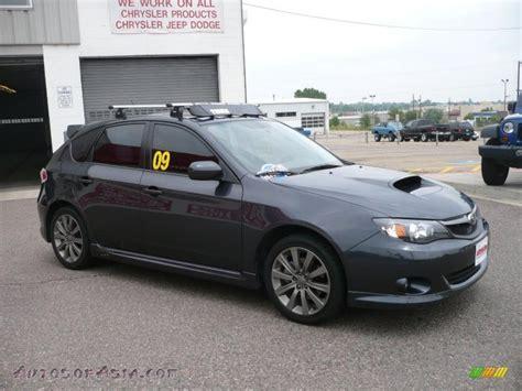 grey subaru impreza hatchback 2009 subaru impreza wrx wagon in dark gray metallic photo
