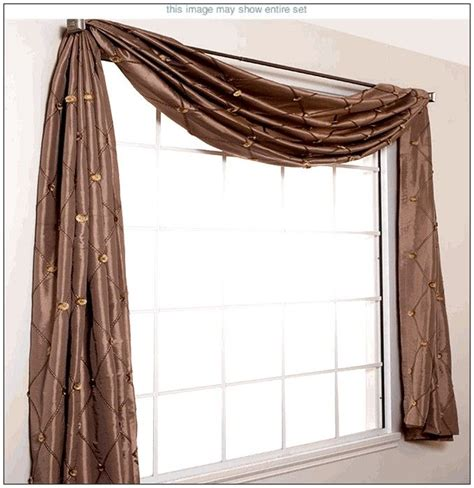 how to do swag curtains i think this is how we ll have to do curtains in our new