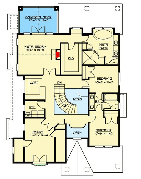 unique floor plan with central turret 23183jd northwest style house plans with bonus room