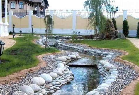 Pictures Of Desert Landscape Front Yards - the usage of river rock in front yard landscaping simple and beautiful ideas