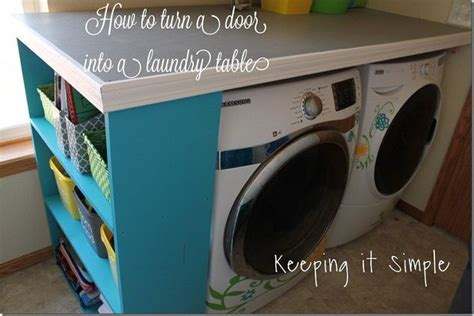 how to a door into a table how to turn a door into a laundry room table diy buildit