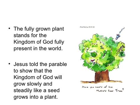 where the gods plants and peoples of the books mustard seed parable