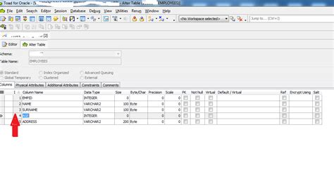 Alter Table Change Column Oracle Toad For Oracle Alter Table Ddl Export