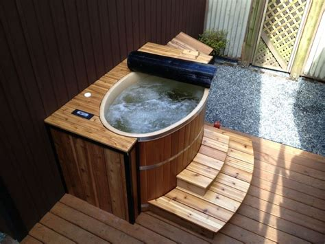 small jacuzzi bathtub a tub for 2 oval cedar hot tub is perfect for small