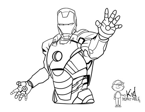 image gallery iron man coloring pages
