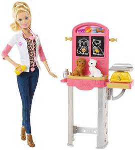 Barbie careers pet vet doll and playset free shipping