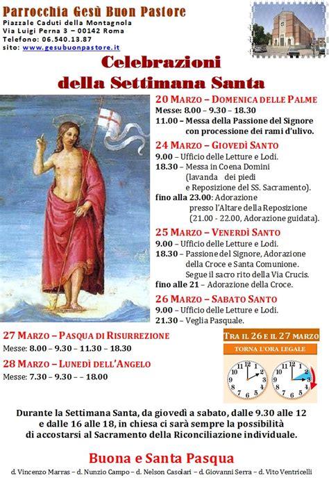 settimana santa 2016 orario celebrazioni celebrazioni della settimana santa parrocchia ges 249 buon