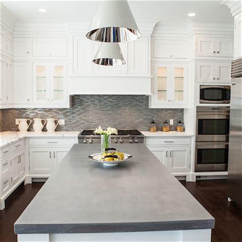 concrete kitchen countertops with white cabinets kitchen island with concrete countertop transitional
