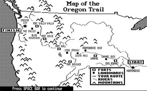 map of oregon trail mappenstance a from fys100 the rhetorical lives