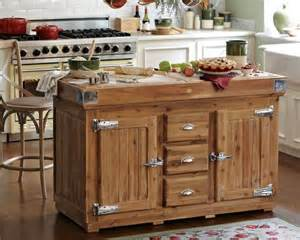 Wooden Kitchen Island by The Berthillon French Kitchen Island
