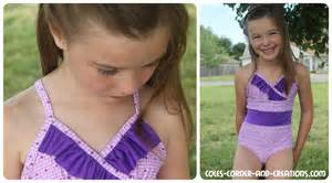 Very young little girl swimsuit