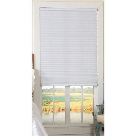 thro home l shade redi shade white fabric light filtering window shade 48