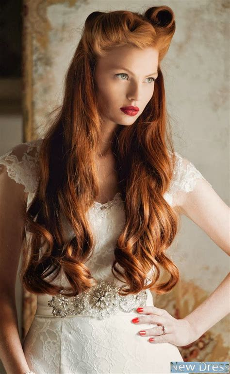hair color in 1940 red long hair hair and makeup pinterest